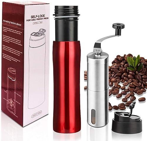 i Cafilas The Original Portable French Press Coffee Maker Premium Stainless Steel Vacuum Insulated Travel Mug Hot Cold Brew 12 oz Coffee Presse
