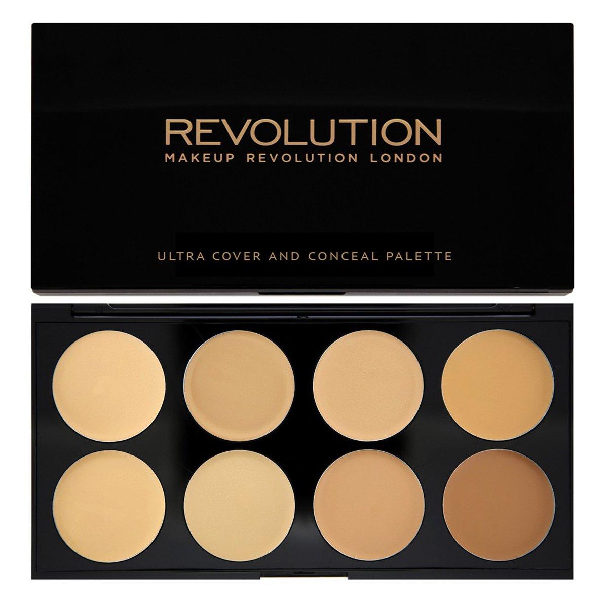 Palette Cover and Conceal de Makeup Revolution, de clair à medium
