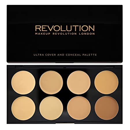 MAKEUP REVOLUTION – Ultra Cover and Conceal Palette – Light To Medium