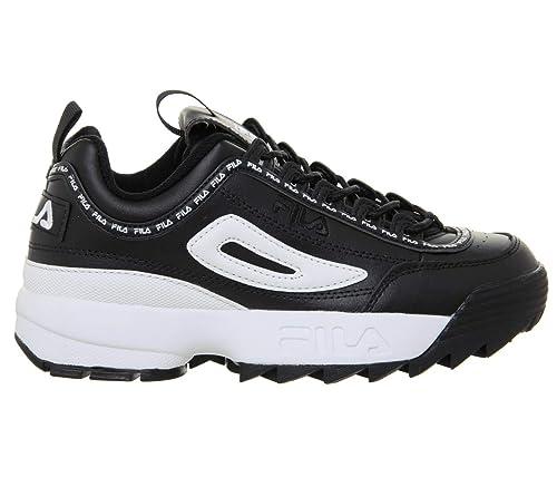 Fila Disruptor II Premium Repeat Negro Mujer Zapatillas-UK 8: Amazon.es: Zapatos y complementos