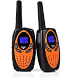 Swiftion Handheld Kids Walkie Talkies Rechargeable 22 Channel 0.5W FRS/GMRS Walky Talky Kids 2 Way Radios (Orange,without charger & batteries)