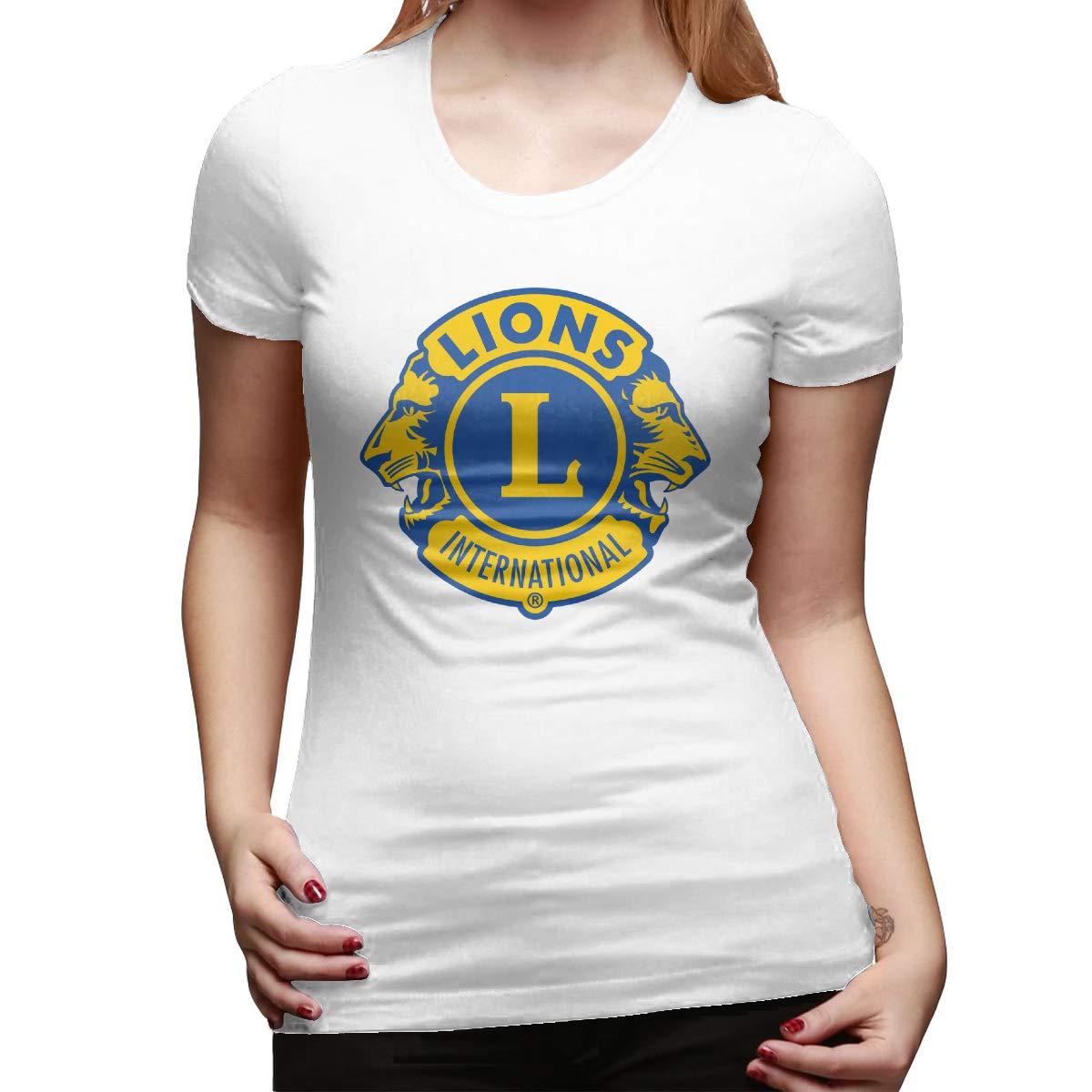 Spower Tee Lions Clubs International Logo Classic Tshirt With Short Sleeve