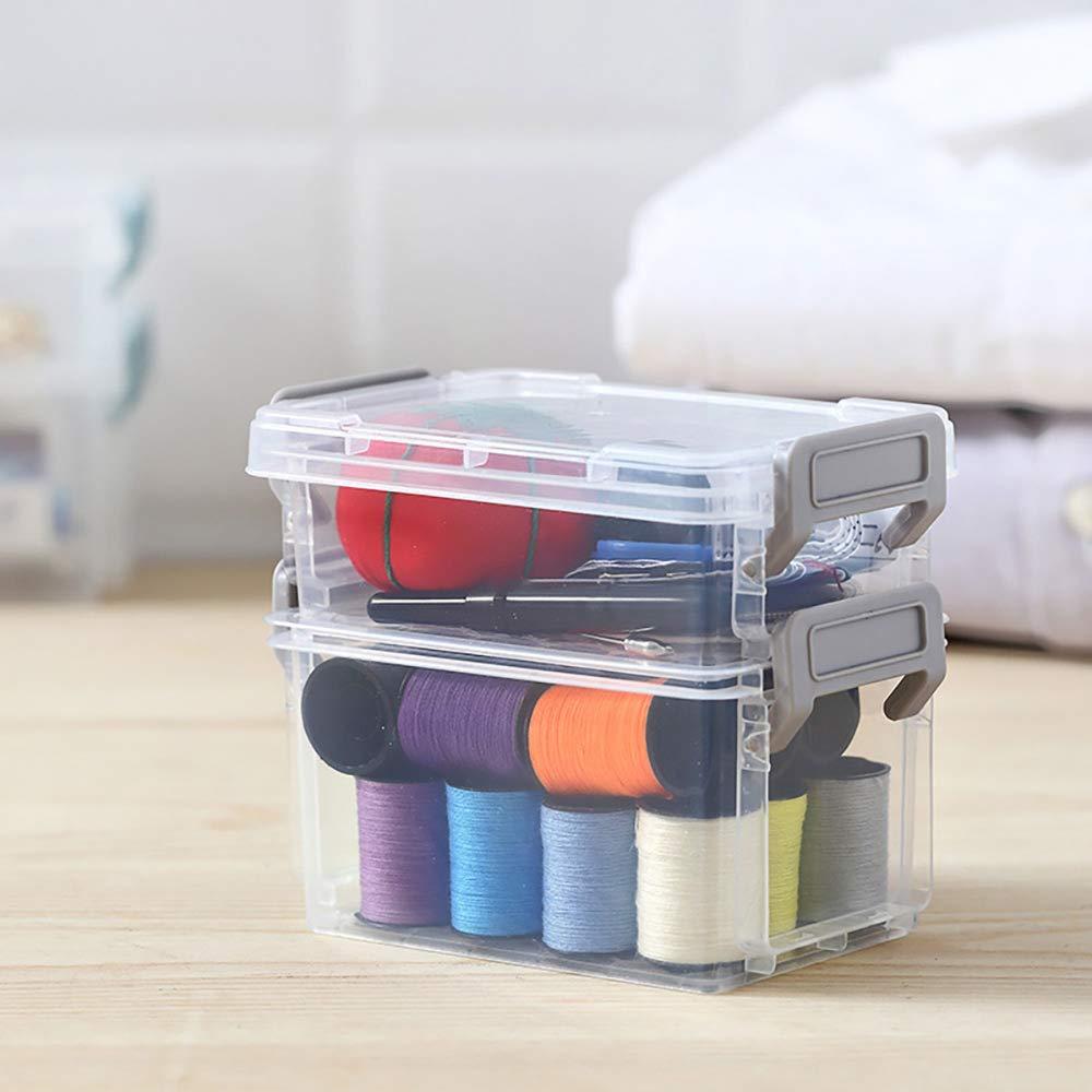 art knitting Notions Portable desktop Storage per appunti Crafts plastica cancelleria cestino perline gioielli e accessori 4 Pcs puntine da disegno Push pins Hulisen impilabile da scrivania