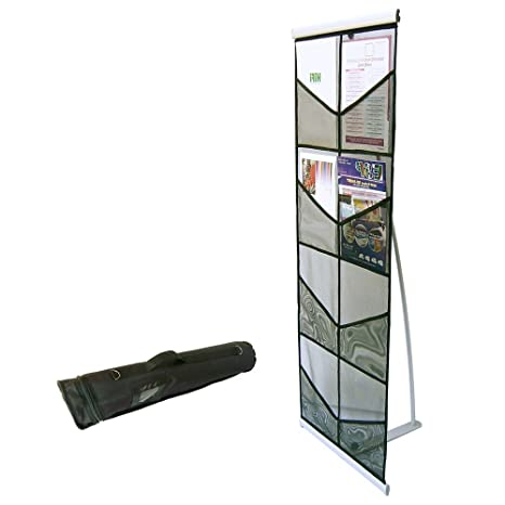 Exhibition Literature Stand : Portable brochure holder literature display stand leaflet rack