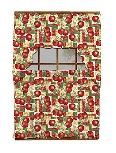 Luxury Home Fashion 3 Piece Kitchen Curtain 100% Polyester, 1 Swag: 58