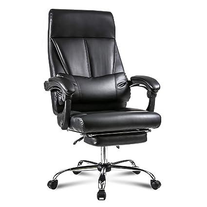 Amazon Com Merax Ergonomic Office Chair High Back Pu Leather