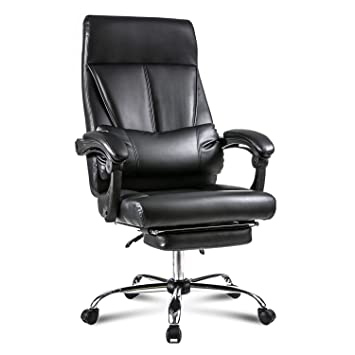 Amazoncom Merax Ergonomic Office Chair High Back Pu Leather