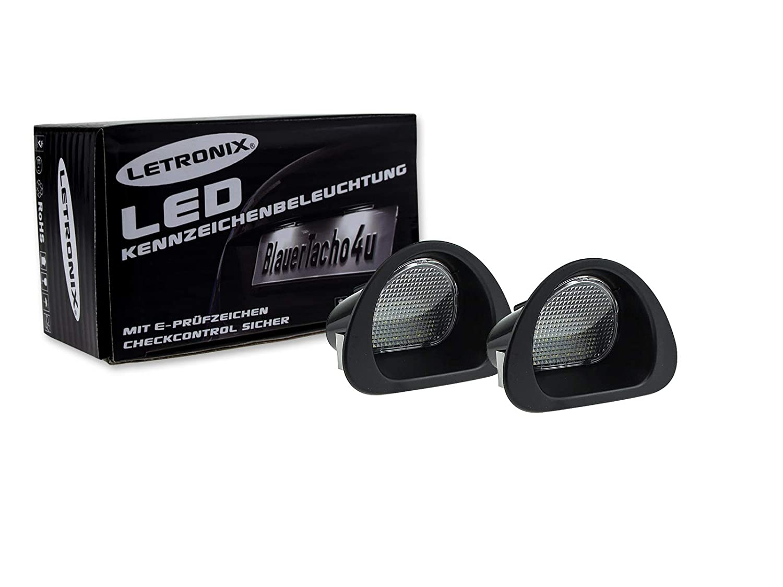 LETRONIX LED Seitenblinker Blinker Module Smoke Schwarz 451 Fortwo 2007-2015 mit E-Pr/üfzeichen