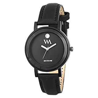 4183b9ee309 Buy Watch Me Quartz Movement Analogue Black Dial Leather Strap Women s and Girl s  Watch Online at Low Prices in India - Amazon.in