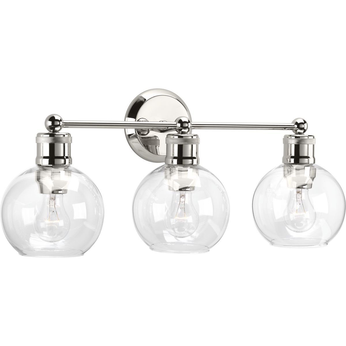 Progress Lighting P300051-104 Hansford Polished Nickel Three-Light Bath & Vanity by Progress Lighting (Image #1)