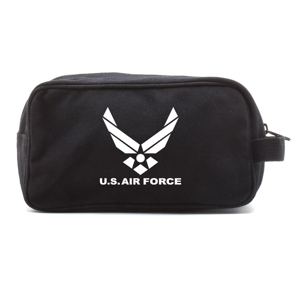 US Air Force Military Canvas Shower Kit Travel Toiletry Bag Case Dopp Kit