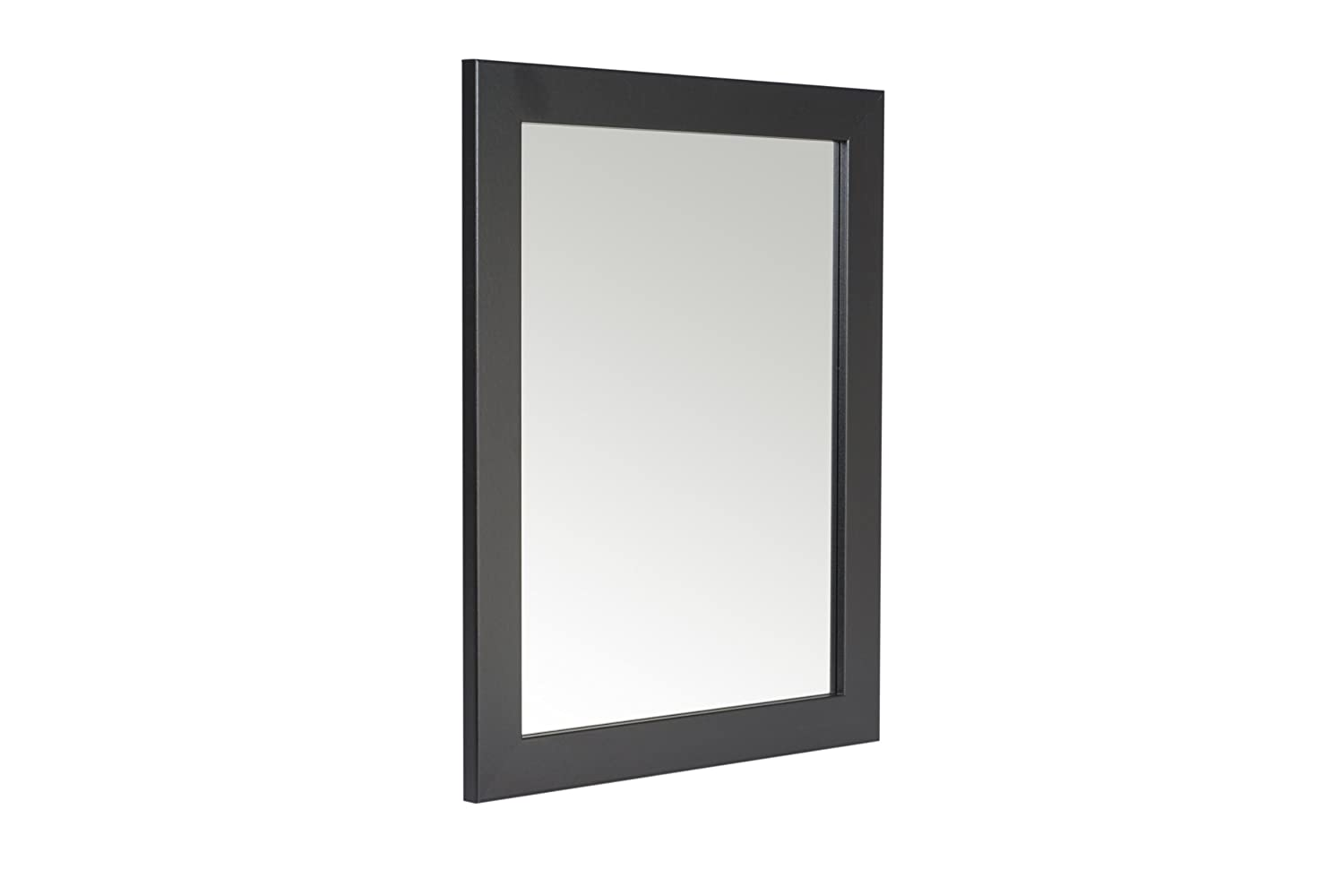 48 x 58cm Black Framed Mirror with Wall Hanging Fixings