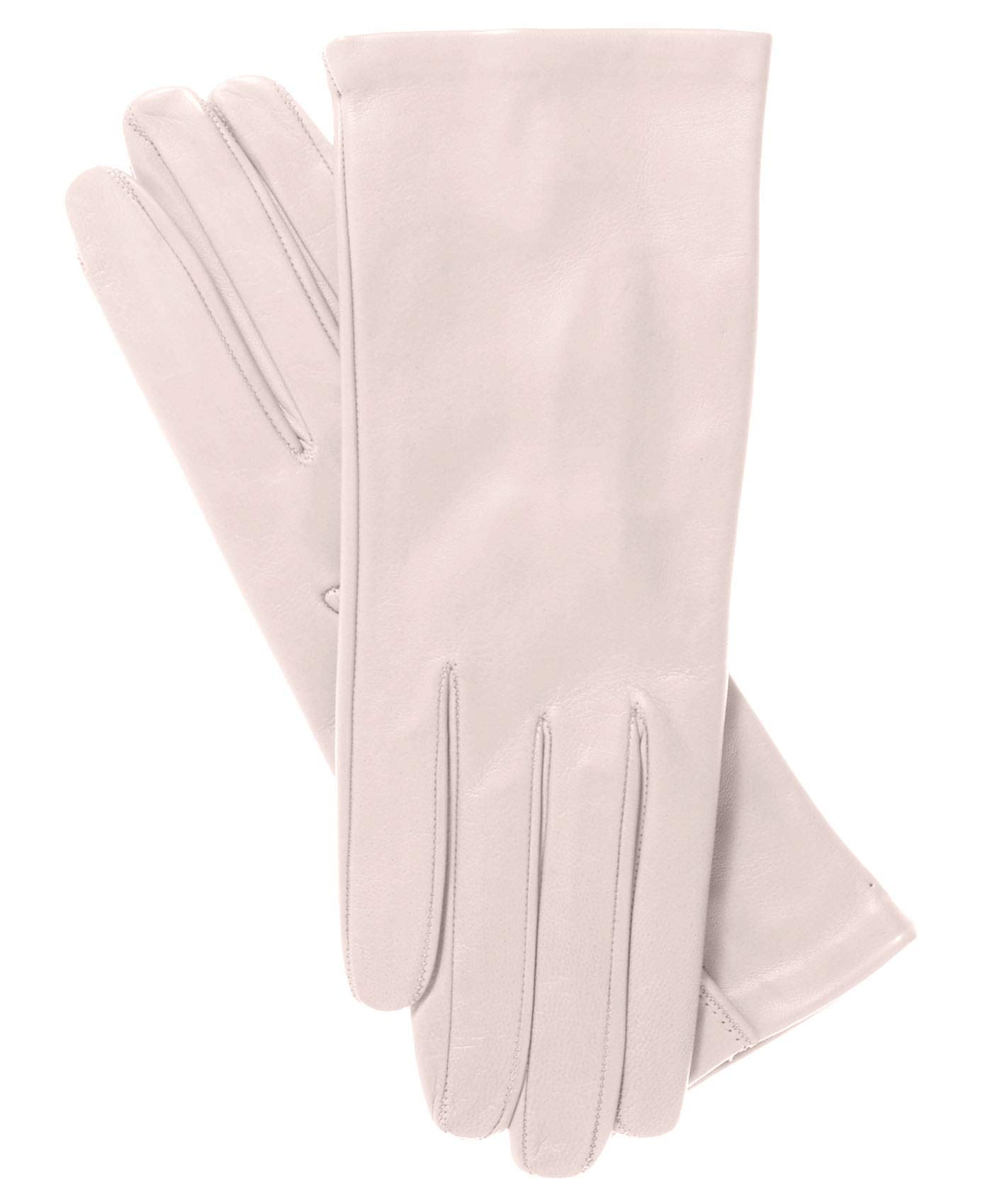 Fratelli Orsini Women's Italian Silk Lined Leather Gloves Size 7 1/2 Color 8-Rosewater by Fratelli Orsini