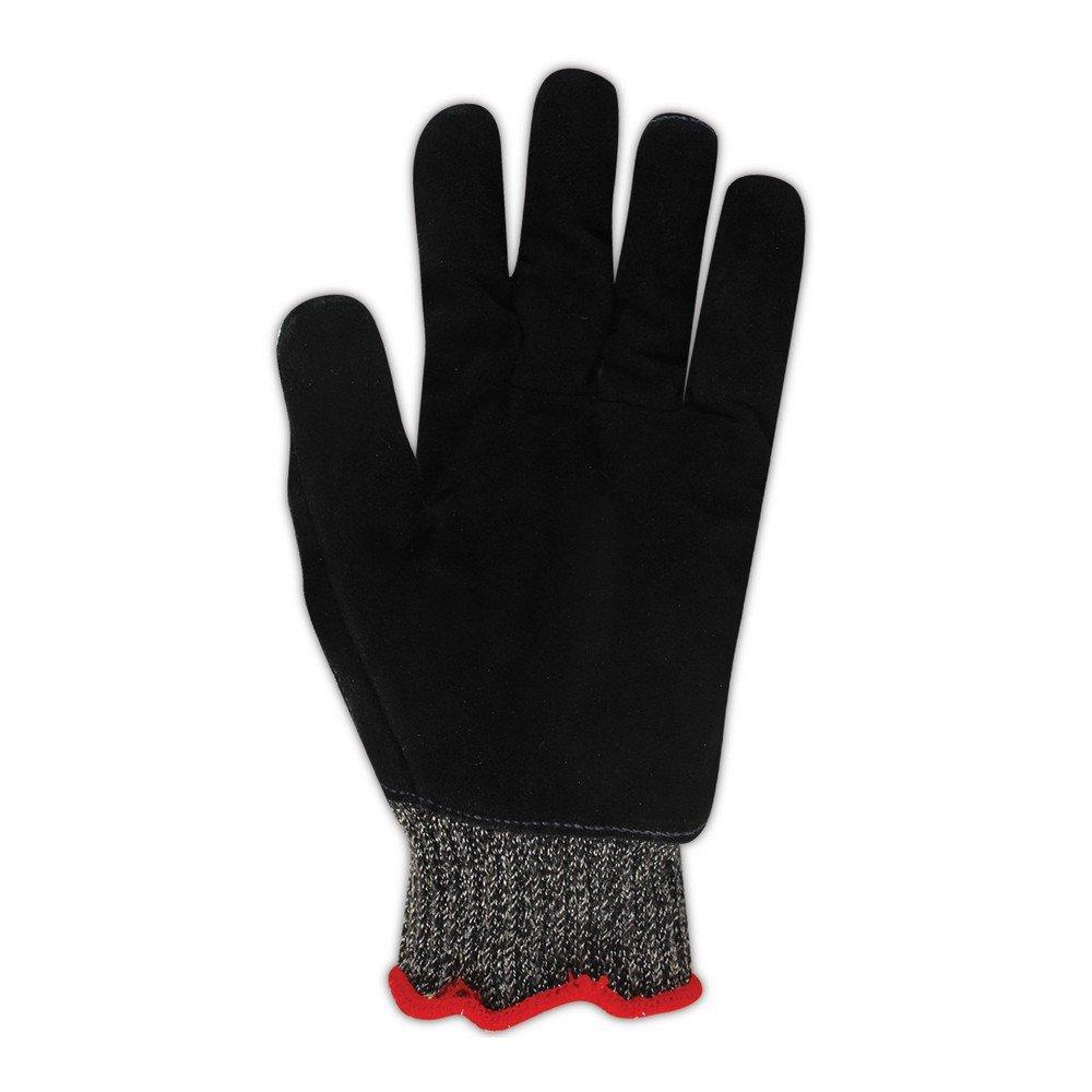 Magid Glove & Safety XKS200LEA9 Magid Cut Master XKS XKS200LEA Medium Weight Leather Palm Gloves - Cut Level 4, 7, Black , 9 (Pack of 12)