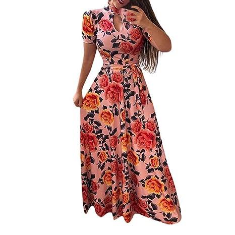 Amazon.com : Dress THENLIAN Women\'s Plus Size Short Sleeve ...