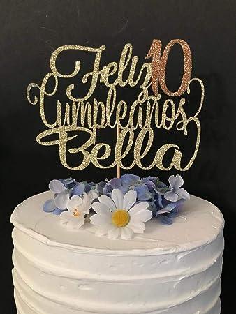 Any Name! Any Age! Feliz Cumpleanos Cake Topper, Spanish ...