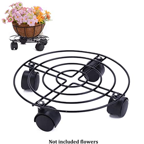 ROKFSCL - Carrito para Plantas con Ruedas, Soporte para macetas de Hierro, 50 kg