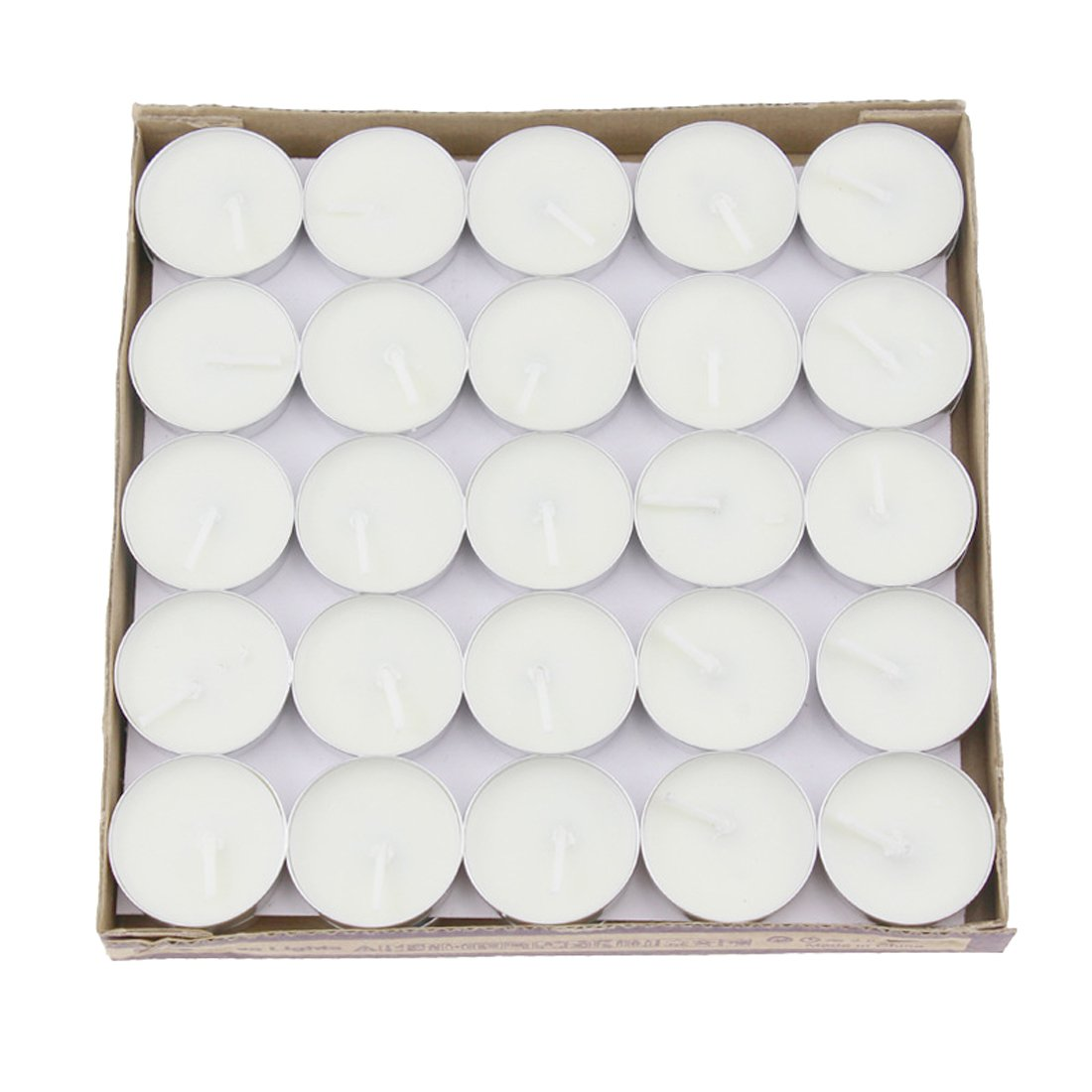 Salome Idea 50 PCS Tealight Candles, Decorative Candle for Wedding, Birthdays and all other Decorative Events (White)