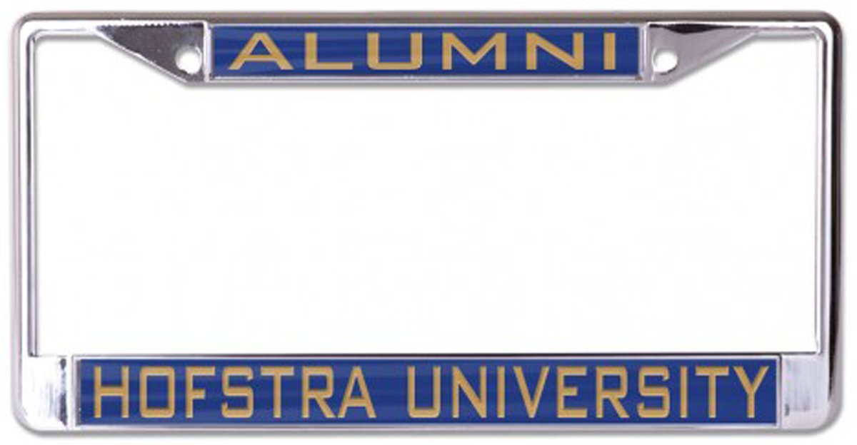 Metal with Inlaid Acrylic 2 Mount Holes Wincraft Hofstra University Alumni License Plate Frame Blue