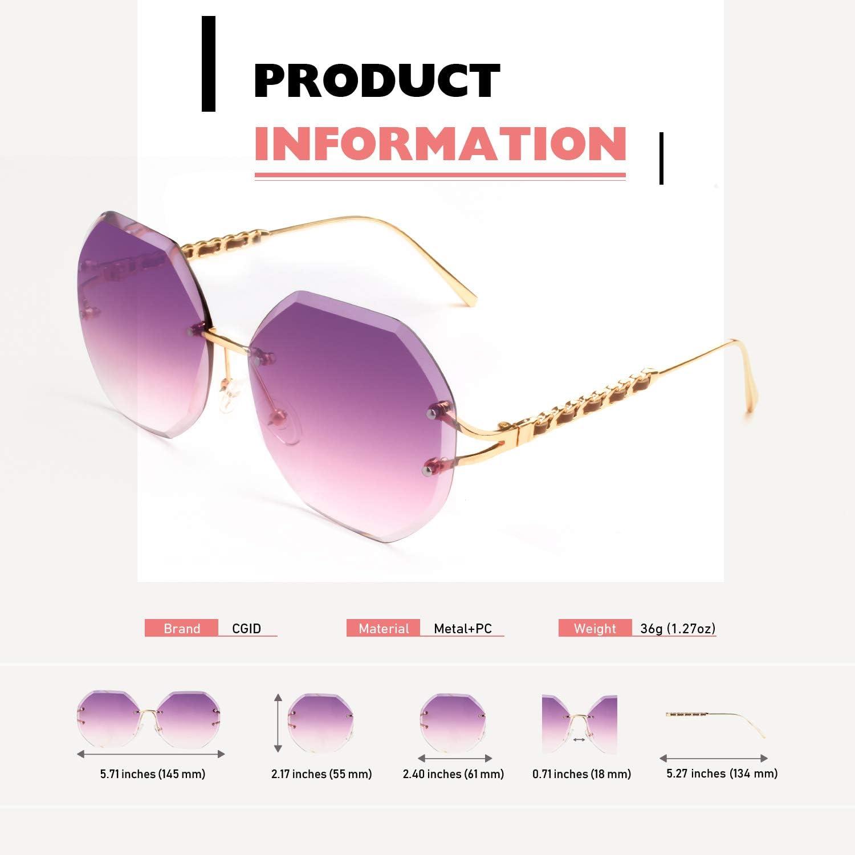 CGID Occhiali da Sole da Donna Classici Polarizzati 100/% UV400 Forma di Diamante M186