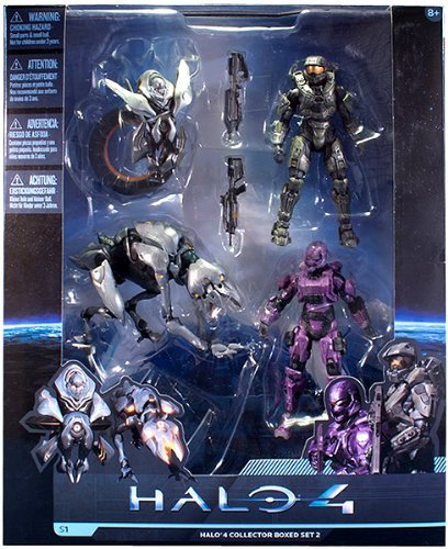 Halo 4 McFarlane Toys Series 1 Exclusive Action Figure 4-Pack Collector Box Set 2 [Master Chief, Spartan Soldier, Watcher & Crawler] (Toys 4 Halo)