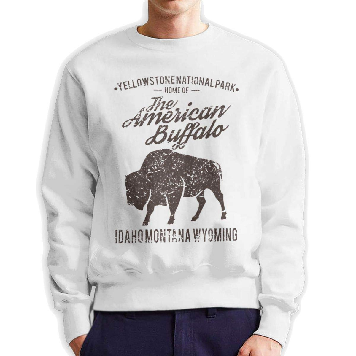 Mens Buffalo Long Sleeve Crewneck Sweatshirt