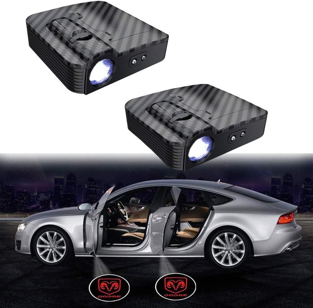 Verbessert Kein Magnet MIVISO 2 St/ücke Autot/ür Led Logo Projektor Licht Drahtlose Lampe Willkommen Ghost Shadow Licht