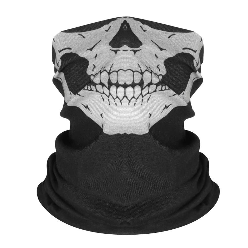 VORCOOL Bicicleta esquí Motor Bandana máscara de la Motocicleta máscara cráneo para Montar en Moto pañuelo Bufanda Miedo a Prueba de Viento Escudo Facial 3 unids