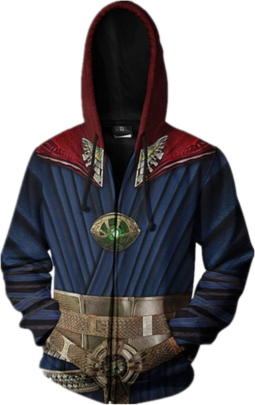 Super Hero DS Hoodie Sweatshirt Costume Pullover/Zipper Hoodie