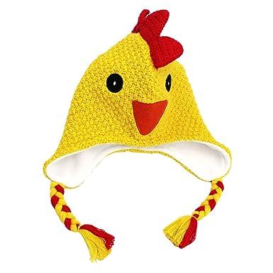 cf2e3277d116 Langzhen Chapeaux d hiver Chaud Enfants Bébé Cartoon Bonnet Tricoté Automne  Bonnet Mignon Poulet Crochet