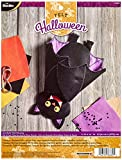 Bucilla Felt Applique Wall Hanging Kit, Just Batty, 86689 Size 11-Inch by 14.5-Inch