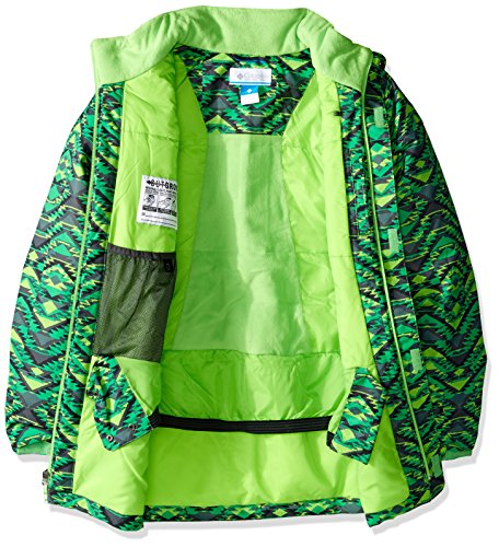 Columbia Green Pizzo Boy Hyper Print 'twist Blue Jacket Waterproof Mamba bright pOrpqw