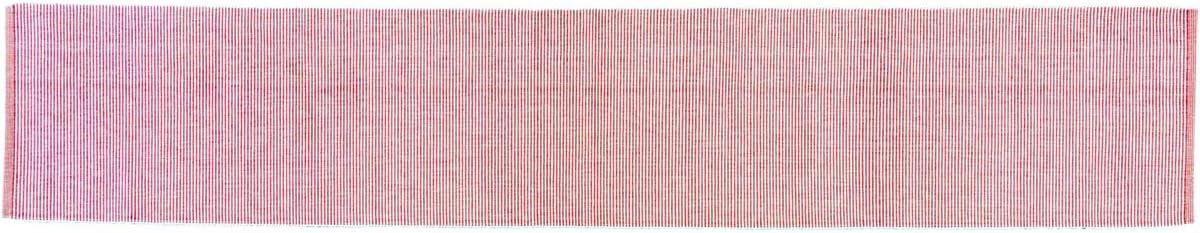 "VHC Brands Americana Farmhouse Tabletop & Kitchen - Ashton Ribbed Runner, 13"" x 72"", Red"