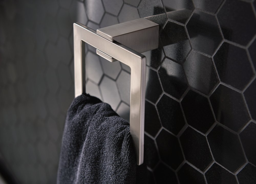 Moen BP3786CH Kyvos Towel Ring CH, Small, Chrome by Moen (Image #2)