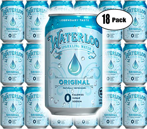 Waterloo Original Sparkling Water, 12 Fl Oz Can (Pack of 18, Total of 216 Oz)