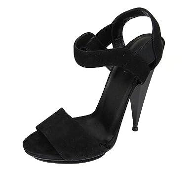 cb9b8fb6bb0a Gucci Women s Black Suede Colorblock Liberty Platform Sandals 347558 (37 G    7 ...