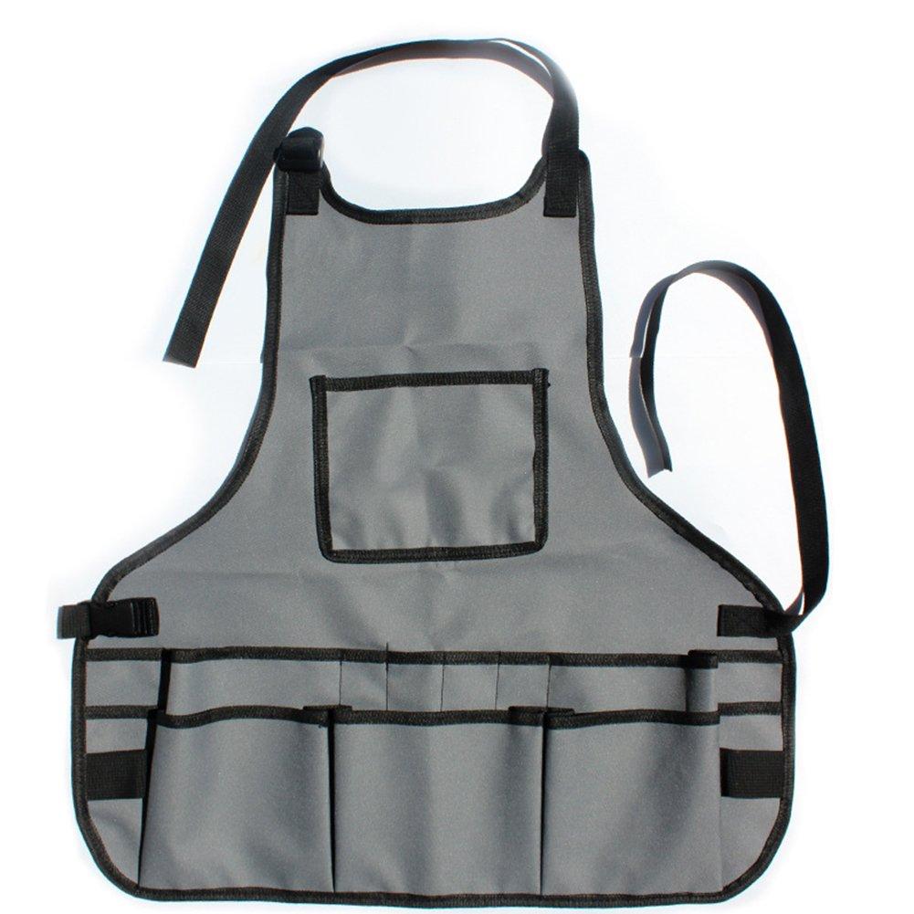 ETbotu Garden Apron with Practical Waterproof Multiple Pockets Garden Work Clothes Hardware Toolkit Pet Supplies