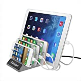 USB Charging Station Dock UPWADE Universal 4 Ports multi USB port Wall Charger Stand Organizer Desktop Charger hub for iPhone iPad Smartphones Tablets and Other 5V USB Charged Devices