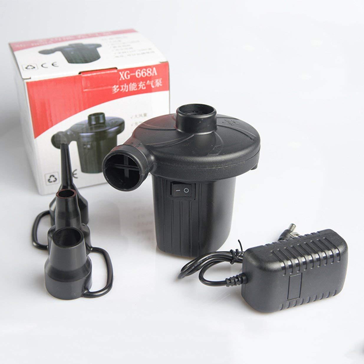 Banbie8409 La casa della Pompa di Aria elettrica di CA gonfia Deflate per Il Materasso di Aria 100V ~ 240V 12V-Nero