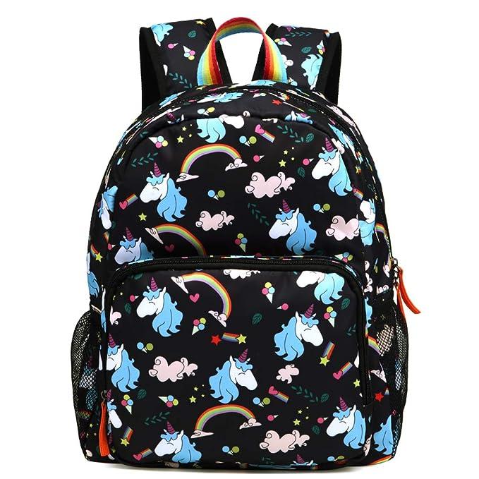 Kemy's Rainbow Preschool Toddler Backpack for Girls, Water-Resistant  Resistant …