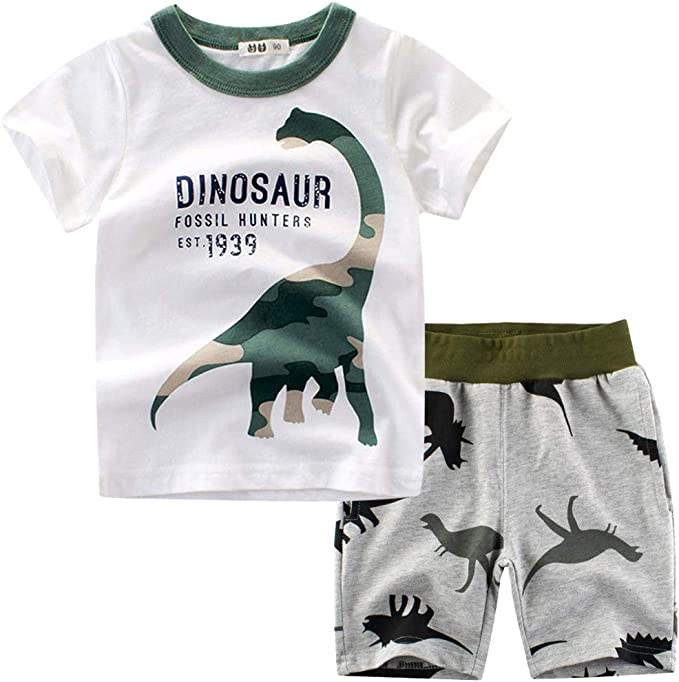 1-7years, SO-buts Niños Verano Chándal Ropa De Dormir Dinosaurio ...