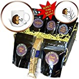 3dRose All Smiles Art Sports and Hobbies - Funny Cute Hedgehog Playing Soccer Cartoon - Coffee Gift Baskets - Coffee Gift Basket (cgb_275770_1)