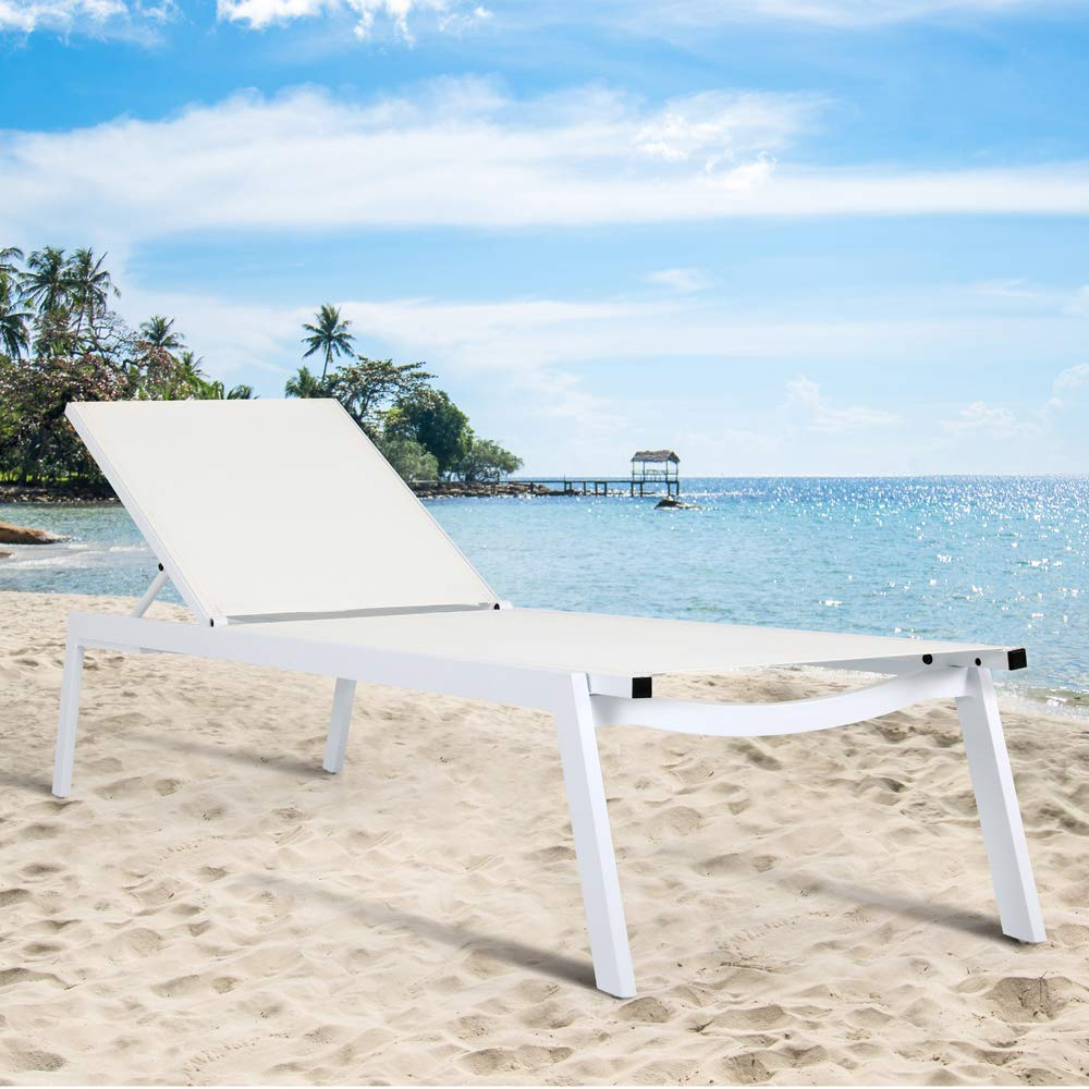Amazon.com: Sillón de playa con 5 posiciones ajustables en ...