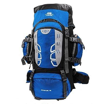 Mooedcoe 75L Mochila Senderismo Tactica Mochila Hombre Impermeable de Trekking Viaje Montaña Acampada Escalada (Azul): Amazon.es: Deportes y aire libre