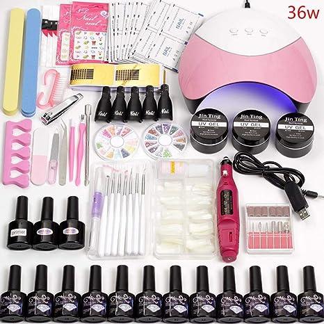 12 Gel de color de uñas kit de barniz del polaco de extensión con ...