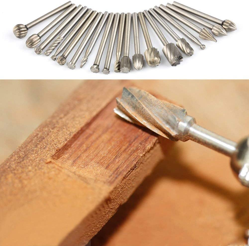 Drilling APLUS 10Pcs /& 10Pcs Wood Carving Drill Bits Set with 3mm 1//8 inch Shank for DIY Woodworking Carving Router Carbide Engraving Bits Engraving Fit for Dremel