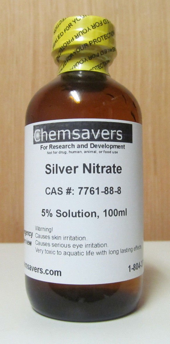 Silver Nitrate, 5% Solution, 100ml