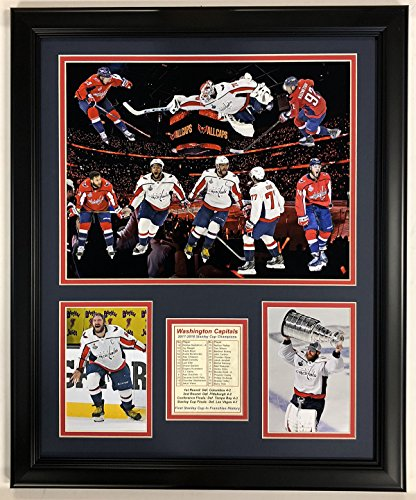 Legends Never Die NHL Washington Capitals 2018 Stanley Cup Framed Double Matted Photos, Collage, 18