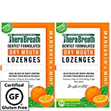 TheraBreath Dentist Recommended Dry Mouth Lozenges, Sugar Free, Mandarin Mint Flavor, 200 count