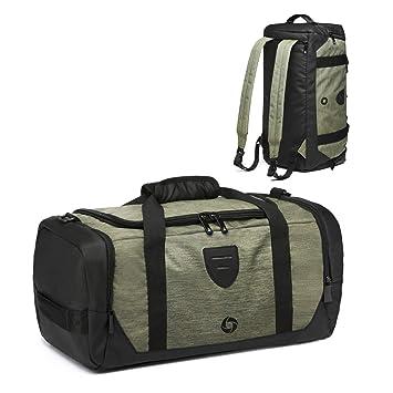 Waterproof Duffle Bags >> Gym Bag Backpack Waterproof Duffle Bags Travel Weekender Duffel Bag For Men Women Overnight Bag With Shoes Compartment Green